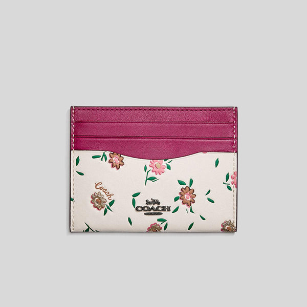 Coach Card Case With Blocked Floral Print 1340