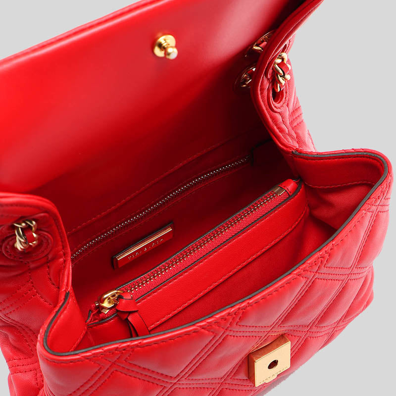 Tory Burch Fleming Soft Small Convertible Shoulder Bag Brilliant Red 58102