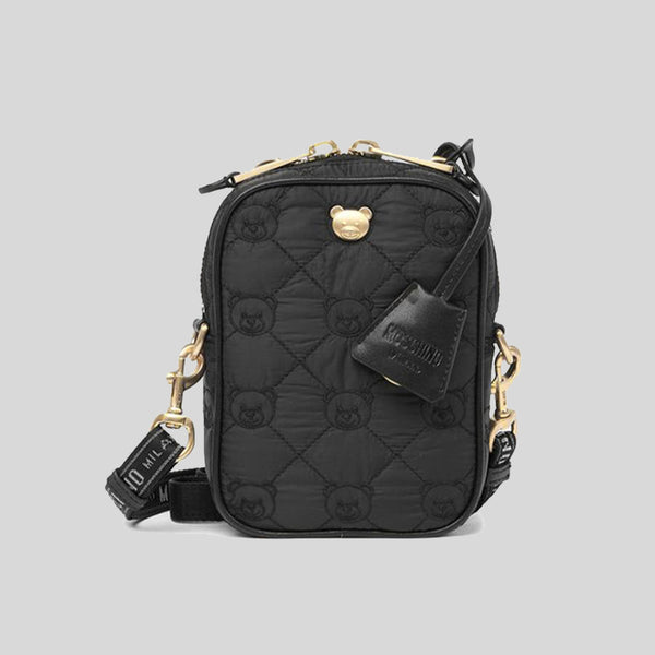 Moschino Quilted Teddy Bear Nylon Crossbody Bag B7408