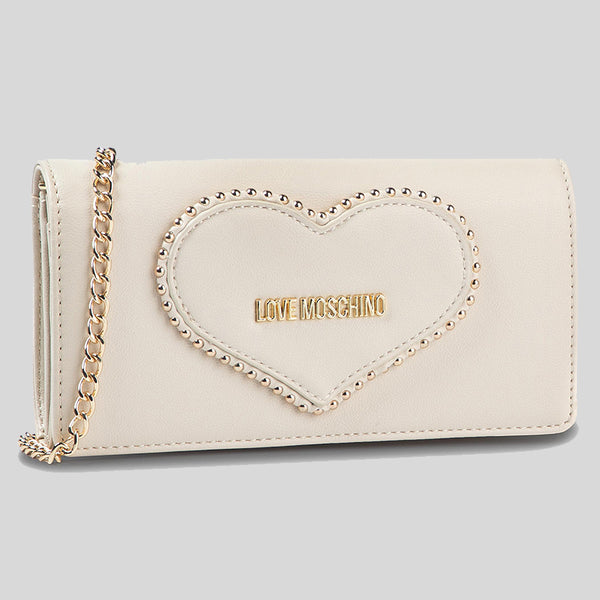 Love Moschino Wallet On Chain Cream White JC5640PP08KG lussocitta lusso città