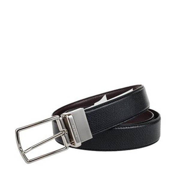 Coach Modern Harness Cut-To-Size Reversible Smooth Leather Belt Black (F59116)