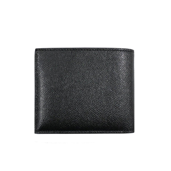 Coach Men's Compact ID Wallet In Cross Grain Leather Black (F59112)