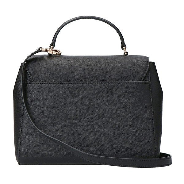 Tory Burch Emerson Structured Satchel Black