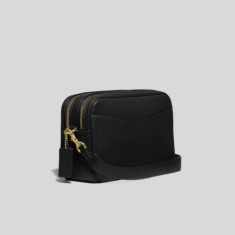 Coach Cassie Camera Bag In Black Gold Hardware 639