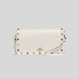 Coach Hayden Foldover Crossbody Clutch With Rivets Chalk 66613 lussocitta lusso citta