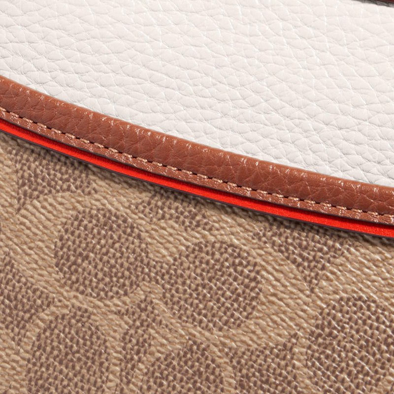 Coach Emery Crossbody In Colorblock Signature Canvas 686 Tan Chalk Multi