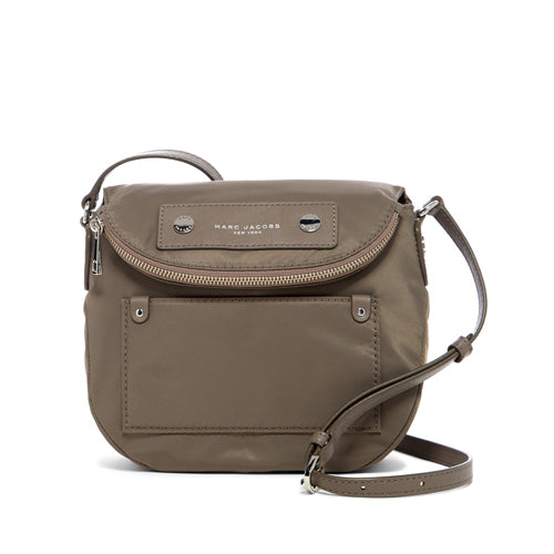 NEW ARRIVAL Marc Jacobs Preppy Nylon Mini Natasha Crossbody Bag Quartz Grey