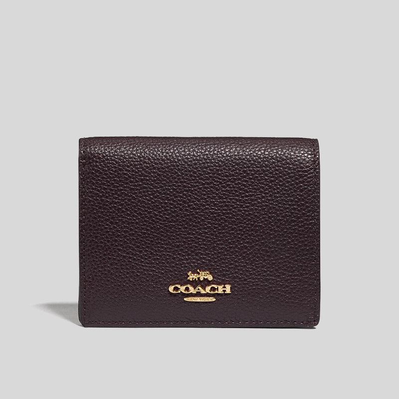 Coach Small Snap Wallet Oxblood 76507