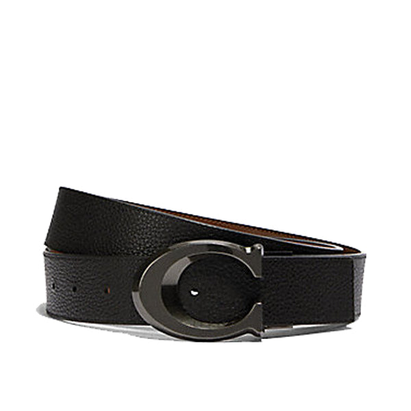 Coach Signature Buckle Cut-To-Size Wide Reversible Belt (91305)