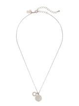 Kate Spade Spot The Spade Pave Charm Pendant Necklace Silver