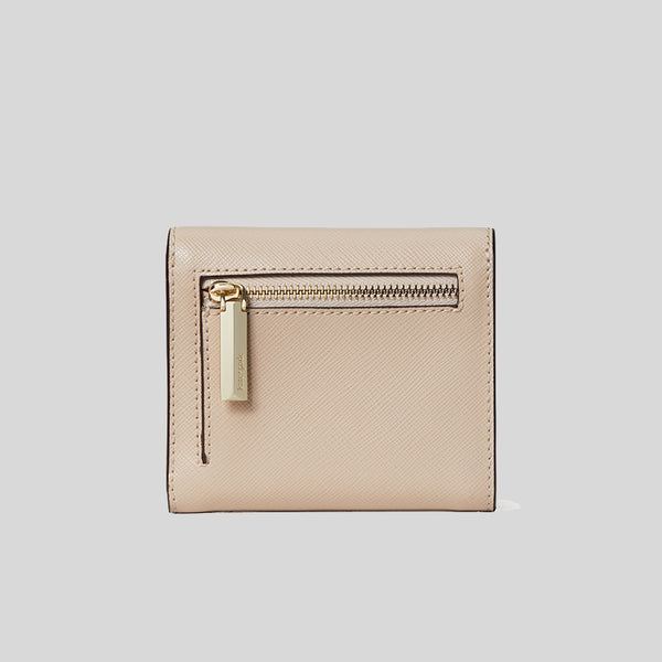 Kate Spade Booked Trifold Flap Wallet pwr00189 Warm Beige