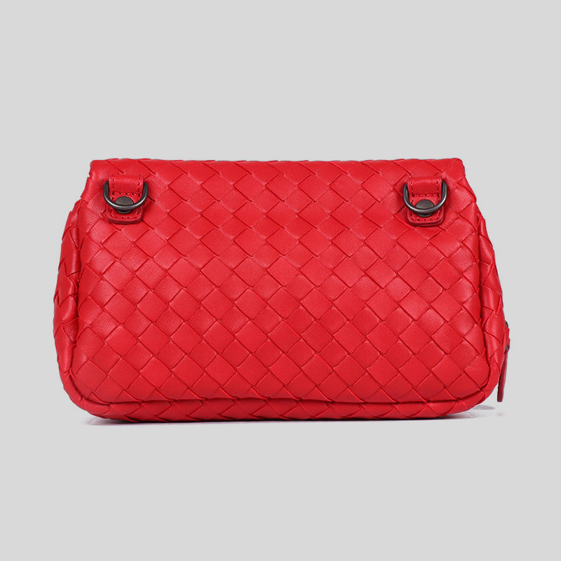 Bottega Veneta Disco Crossbody Bag Red 310774