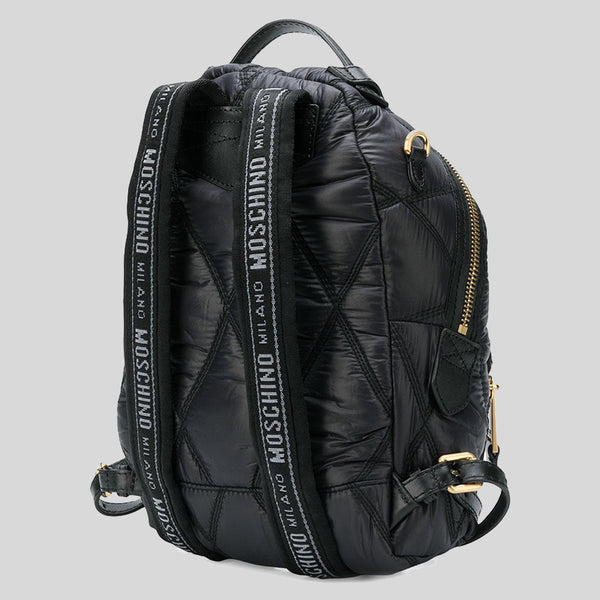 Moschino Nylon Quilted Backpack Black B7605