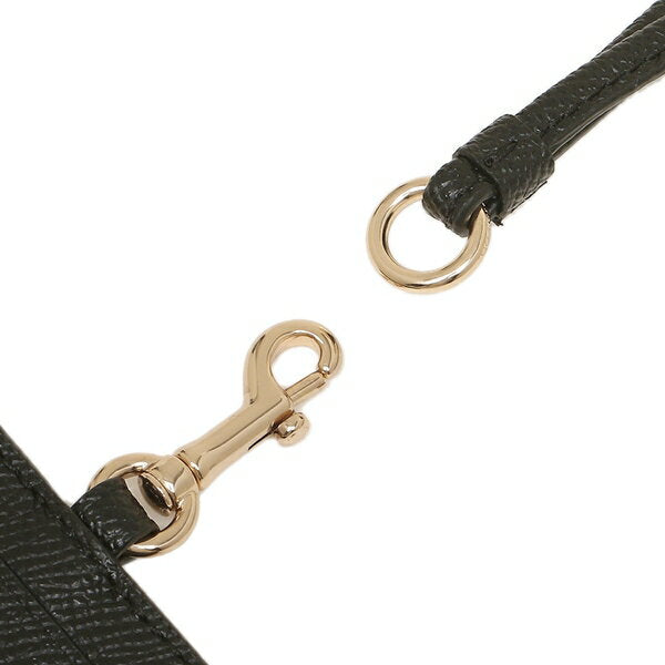 Coach Lanyard ID Case In Crossgrain Leather Black F57311