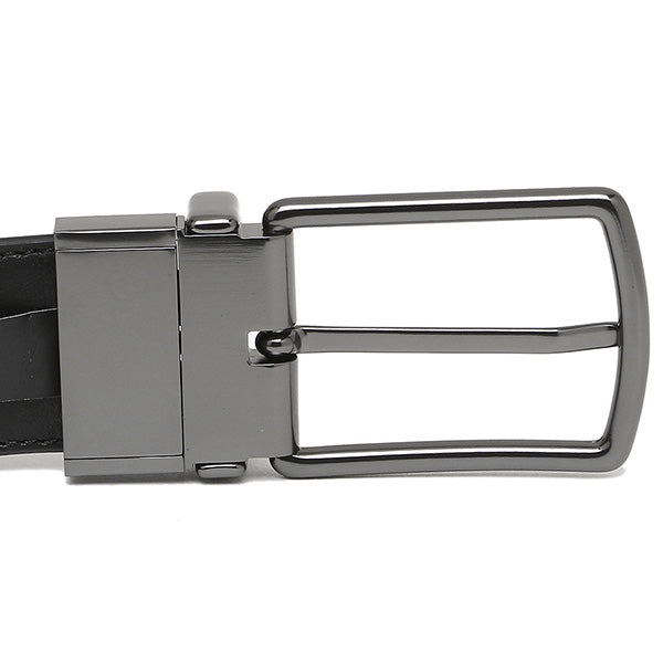 Coach Men's Modern Harness Cut-To-Size Reversible Signature Coated Canvas Belt (F64825) Black