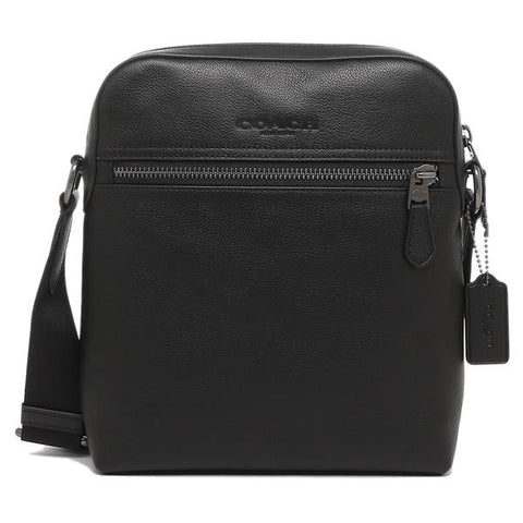 Coach Houston Flight Bag Calf Leather Black