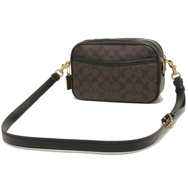 Coach Jes Crossbody In Signature Coated Canvas Brown