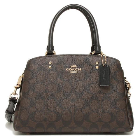 Coach Mini Lillie Carryall in Signature Canvas Brown 91494 lussocitta