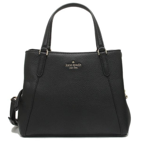 Kate Spade Jackson Leather Medium Triple Compartment Satchel Black