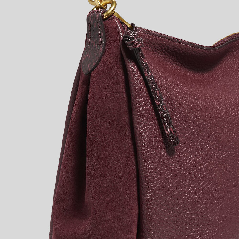 Coach Shay Shoulder Bag With Snakeskin Detail 4611 Wine