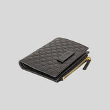 Gucci Micro GG Guccissima Leather Small Bifold Wallet Black 510318