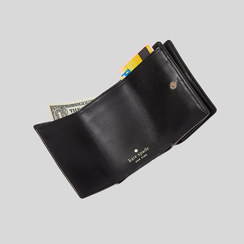 Kate Spade Staci Micro Trifold Wallet Black