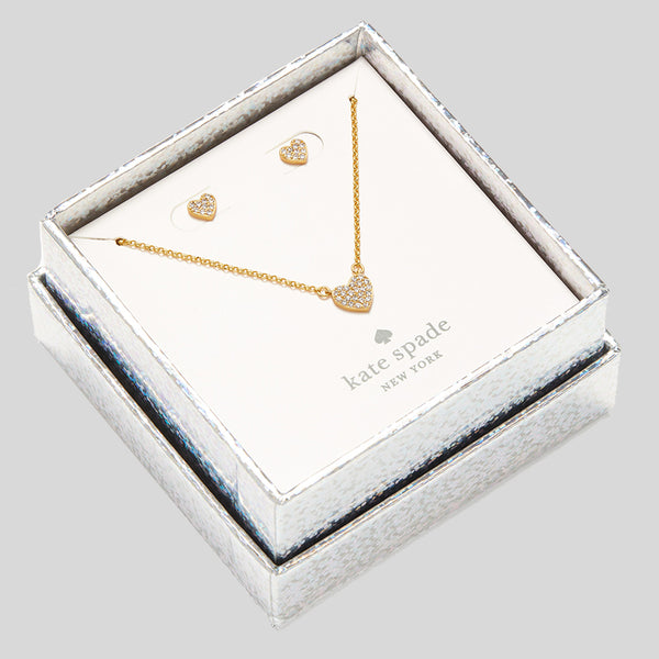Kate Spade Yours Truly Pave Studs And Mini Pendant o0r00112 Gold