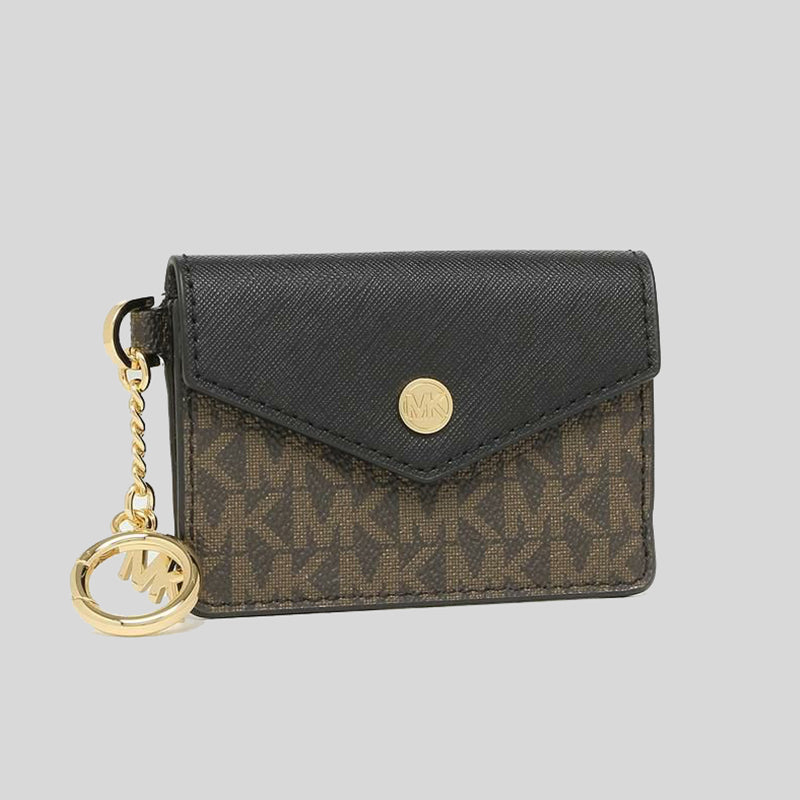 Michael Kors Kala small Card Holder With Key Ring 35F0GW9D1B Black