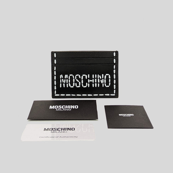 Moschino Printed Logo Card Holder Black A8103