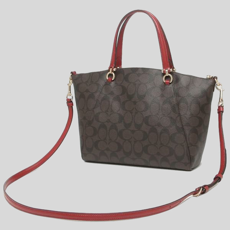 Coach Prairie Satchel In Signature Canvas Brown 1941 Red 79998