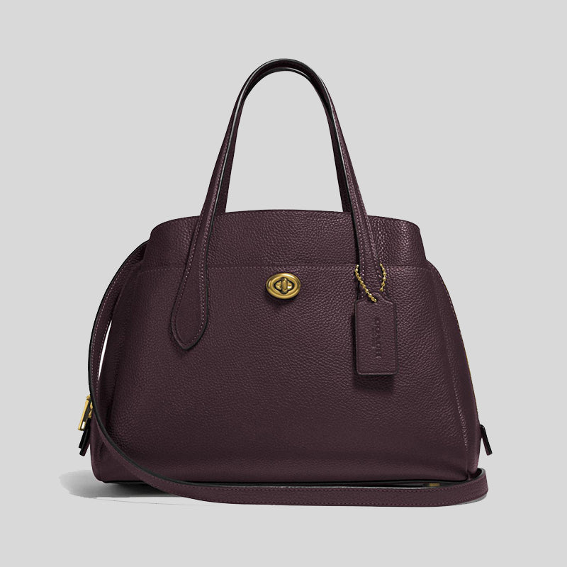 Coach Lora Carryall 30 Tote Bag 91740 Oxblood