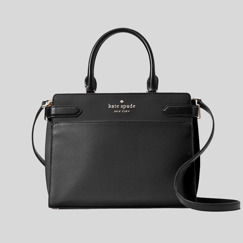 Kate Spade Staci Medium Satchel Black WKRU6951