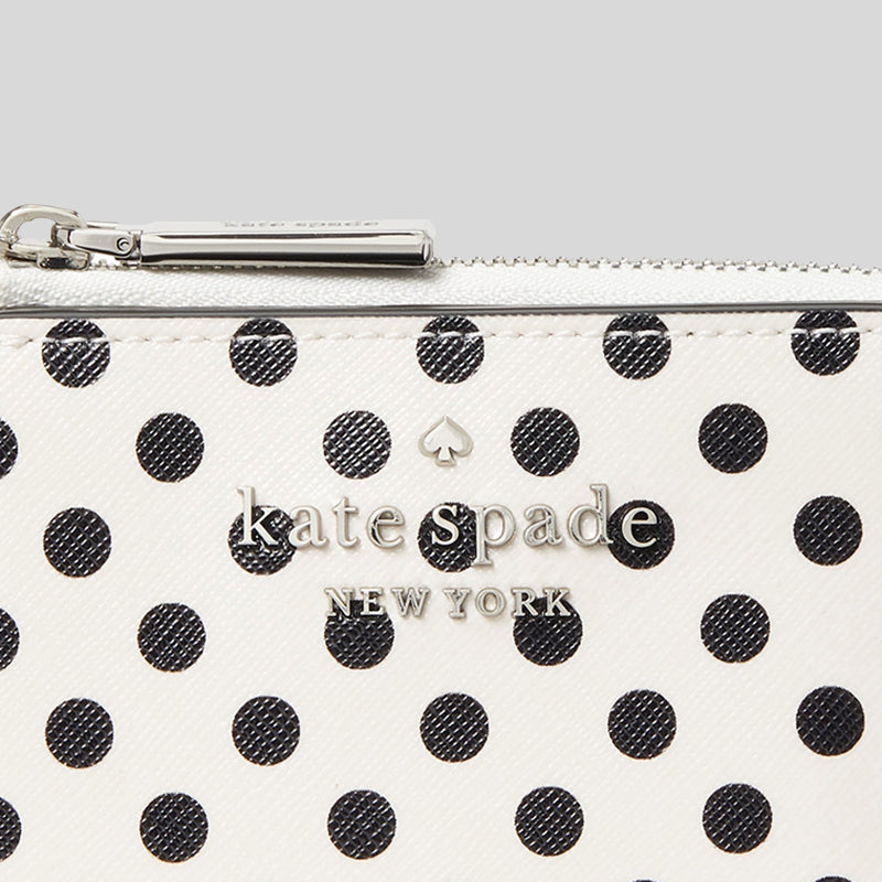 Kate Spade Staci Picture Dot Small L Zip Bifold Wallet WLR00095