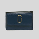 Marc Jacobs The Snapshot Mini Trifold Wallet Blue Sea Multi M0014492