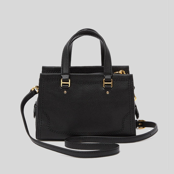Marc Jacobs Mini Cruiser Pebbled Leather Crossbody Satchel Black