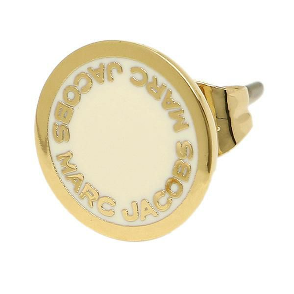 Marc Jacobs Enamel Logo Disc Studs M0008544 Gold Cream