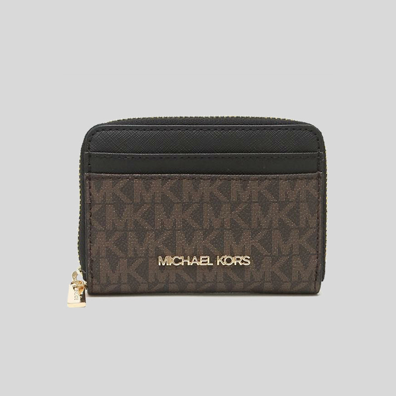 Michael Kors Jet Set Travel MD Zip Around Card Case Black