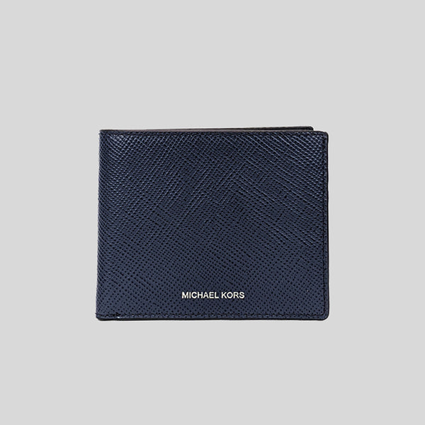 Michael Kors Harrison Leather Slim Billfold Wallet Navy