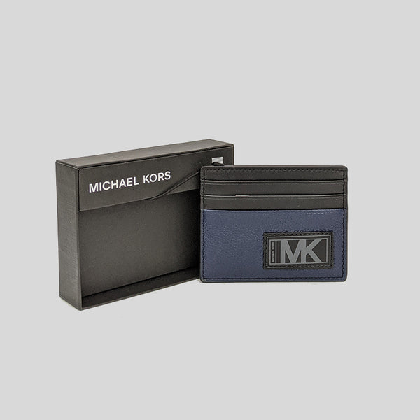 Michael Kors Gifting Leather Tall Card Case In Box 36U0LGFY1L Navy