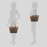 Michael Kors Charlotte Tote In Signature Canvas Brown 35T0GCFT3B