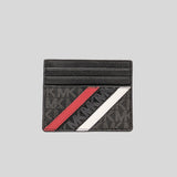 Michael Kors Cooper Tall Card Case 36F0LCOD2B Black Crimson