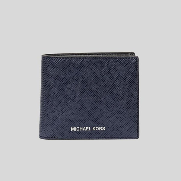 Michael Kors Harrison Leather Billfold Wallet With Passcase Navy 36U9LHRF6L