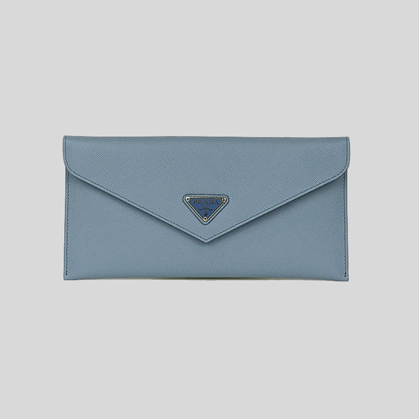 Prada Slim Envelope Wallet With Removable Pouch 1MF006