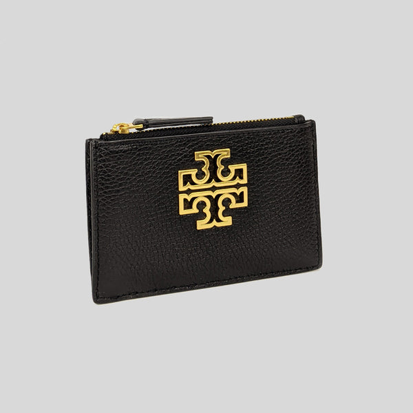 Tory Burch Britten Zip Card Case 75027 Black