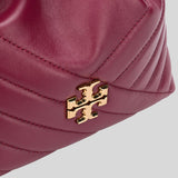 Tory Burch Kira Chevron Mini Bucket Bag Imperial Garnet 73561