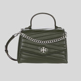 Tory Burch Kira Chevron Top Handle Satchel Poblano 61674