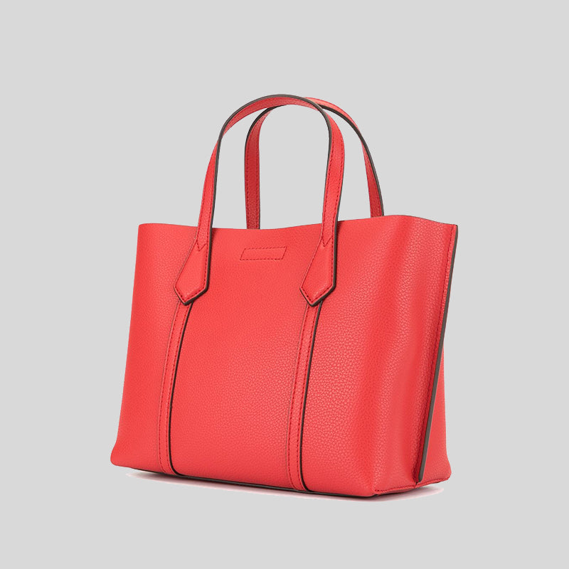 Tory Burch Perry Small Triple Compartment Tote Bag Brilliant red 56249