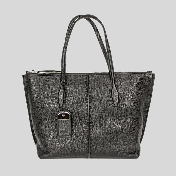Tod's Shopping Zip Foderata Tote Bag Black lussocitta lusso citta