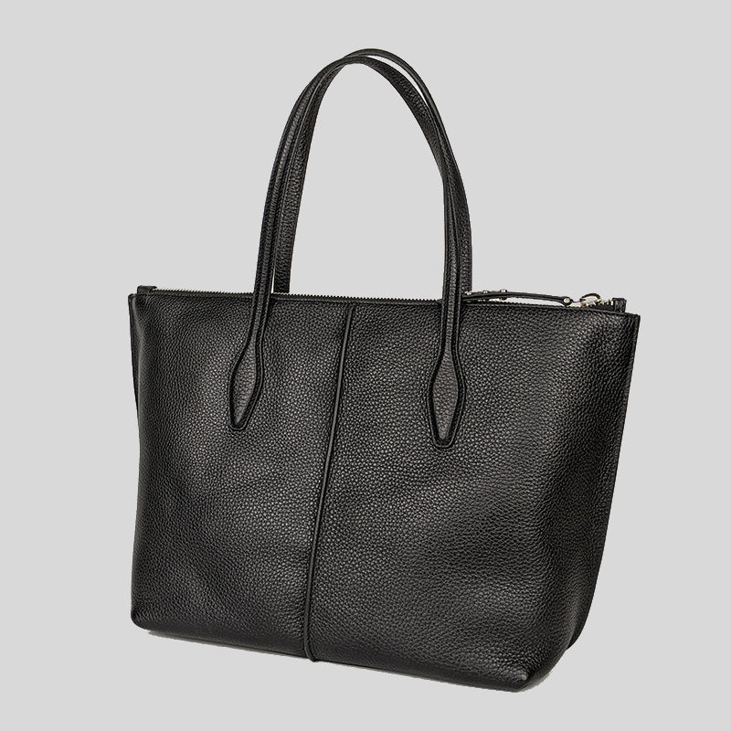 Tod's Shopping Zip Foderata Tote Bag Black