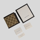 Gucci Men's Signature Bifold Wallet With Coin Compartment 150413